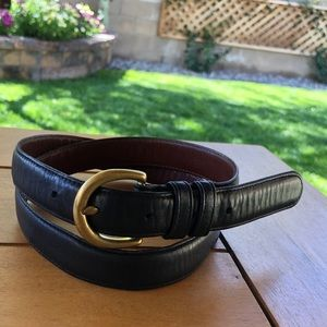 Vintage Coach Black Leather Belt Small 34""